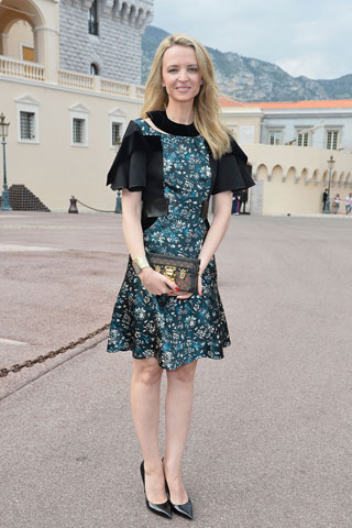louis vuitton owner daughter. delphine arnault, daughter of lvh executive bernard arnault and vice president vuitton, wearing her lv petite malle bag to the vuitton cruise louis owner p