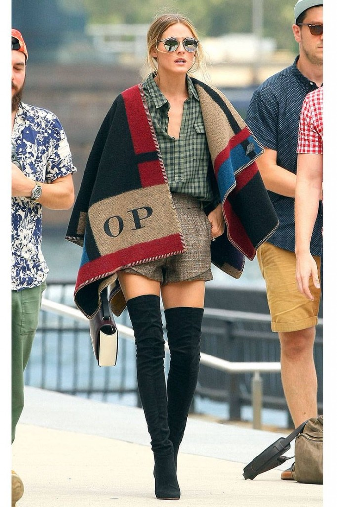 f2874ce195e Olivia Palermo Burberry personalized blanket scarf