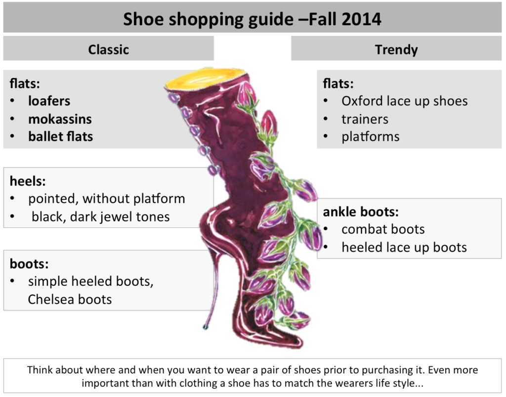 shoe shopping guide 2014
