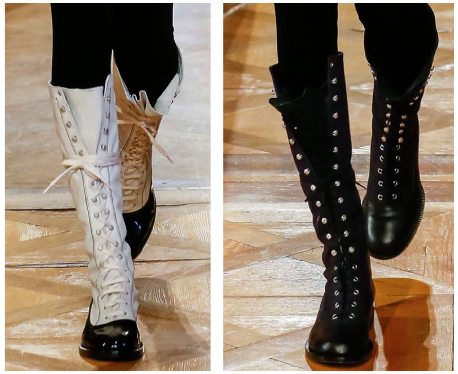 chanel combat boots 2015